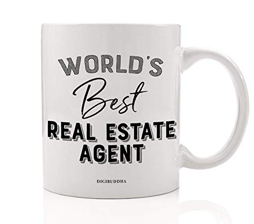 Glaze Estate (World's Best Real Estate Agent Mug Gift Idea Property Broker Buy Sell Settle New Home Licensed Agency House Apt Condo Christmas Holiday Thank You Present 11oz Ceramic Coffee Tea Cup Digibuddha DM0409)