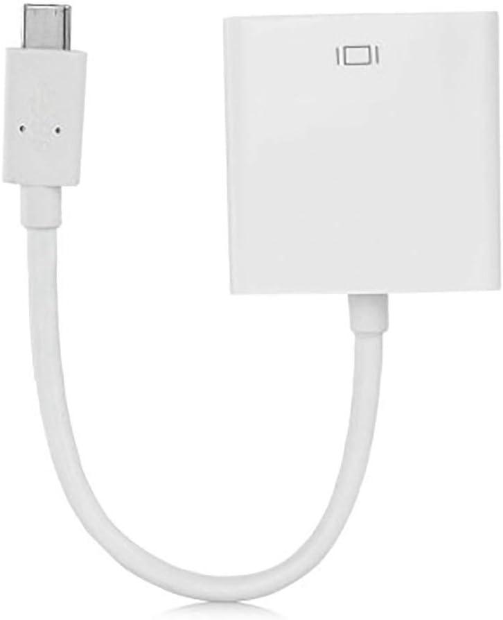 USB C to DVI Adapter Converter 1080p USB Type C to DVI USB 3.1 Thunderbolt 3White
