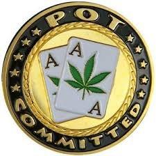Fiche speciale per carte da poker, con simbolo della marjuana newpokercardguards