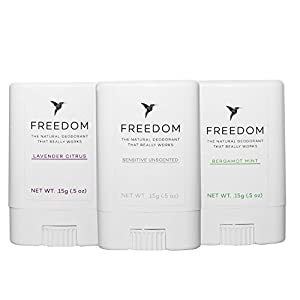 Travel 3pk (Lavender/Mint/Unscented) Natural Deodorant Aluminum Free (that REALLY works!) For Women & Men: Organic, Healthy, Safe, Non-Toxic, Phthalate, Paraben, Gluten & Cruelty Free