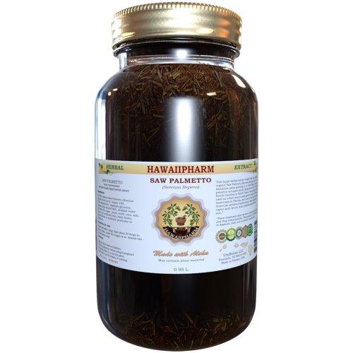 Saw Palmetto жидкий экстракт, органические Saw Palmetto (Serenoa ползучий) Настойка Дополнение 32 унций