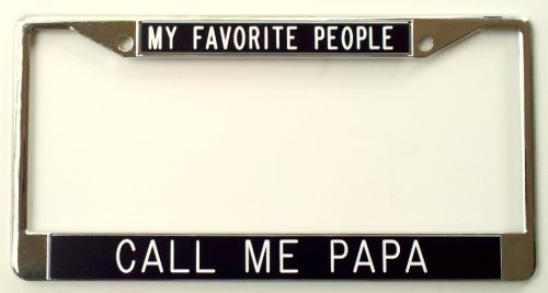 Favorite People License Plate Frame black product image