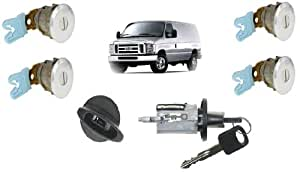 Amazon Com Ford Econoline Van E150 E250 E350 Keyed Door Locks Amp Keyed Ignition