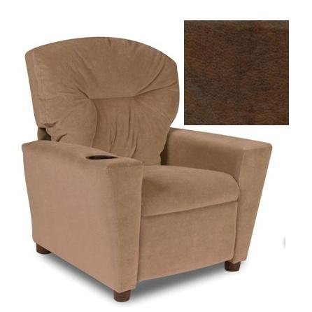 Pecan Upholstered Chair - Dozydotes Kid Recliner with Cup Holder -