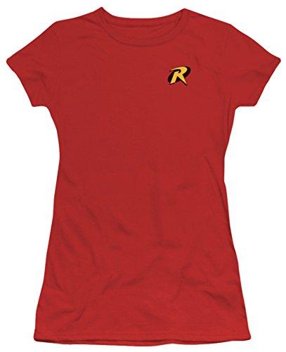 [Juniors: Batman-Robin Logo Juniors (Slim) T-Shirt Size S] (Batman Dress Socks)