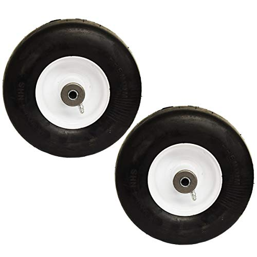 - 2PK Flat Free Solid Puncture Proof 9x3.5x4 9x3.50-4 9x3.50x4 Tire Wheel Tire Assembly Ferris Snapper 1521181 5021181