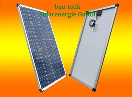 bau-tech Solarenergie 2 Stück 100W Polikristallines Solarpanel 12V Solarmodul Solarzelle 100Watt für Camping, Caravan, Garten GmbH