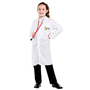 Childrens Unisex White Doctors Coat Fancy Dress Up Party Costume ...