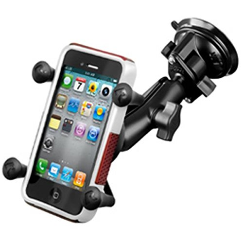 RAM Mounts (RAP-B-166-UN7U) Composite Twist Lock Suction Cup Mount with Universal X-Grip Cell/Iphone Holder