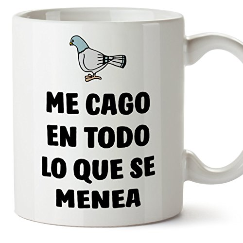Detalles De Mugffins Tazas Desayuno Originales Con Frases Motivadoras Paloma Me Cago