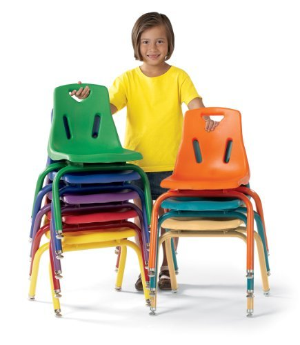 Berries 8120JC6114 Stacking Chairs with Powder-Coated Legs, 10