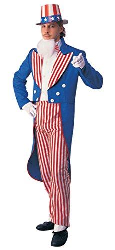 (Rubies Mens Uncle Sam Patriotic Suit Theme Party Fancy Costume, Large)