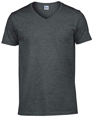 Gildan softstyletm camiseta de cuello de pico Dark Heather