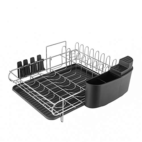 HOMELODY Dish Rack, 2 Tier Dish Rack With Drainboard Only $29.49