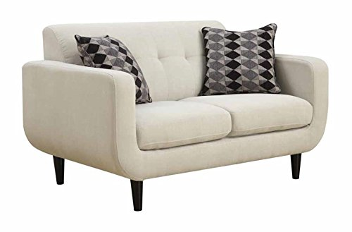 Coaster Home Furnishings 505205 Stansall Collection Loveseat, Ivory