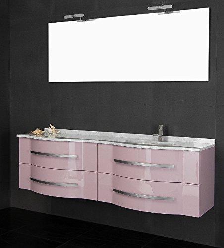 Mobile Arredo Bagno Argus cm180 sospeso con Doppio lavabo disp. in ...