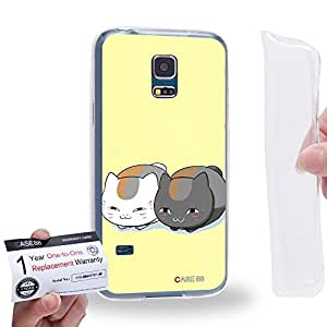 Case88 [Samsung Galaxy S5 Mini] Gel TPU Carcasa/Funda & Tarjeta de garantía - Natsume's Book of Friends Takashi Natsume 1622