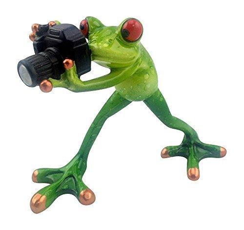 - Novelty Frog Figurine - Frog Photographer
