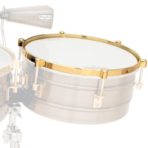 Latin Percussion LP2532 14-Inch Timbale Rim for LP257KP Karl Perazzo Signature Timbales - Gold by Latin Percussion