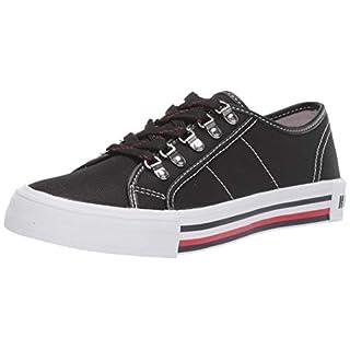 Tommy Hilfiger Women's Hill Sneaker, Black Plaid, 8