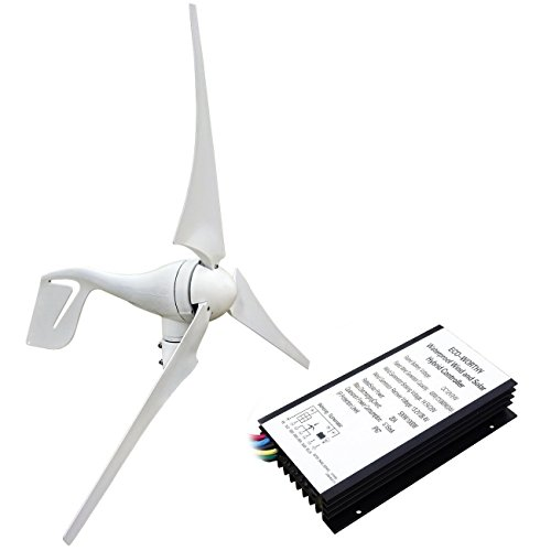 - ECO-WORTHY 400 Watt Wind Turbine Generator with 12V/24V 20A Hybird Charge Controller for Charging 12 or 24 Volt Battery