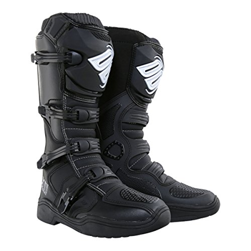 Shot X11 Mens Off-Road Motorcycle Boots - Black Size - Boots Brake Motorcycle Buckle Mens