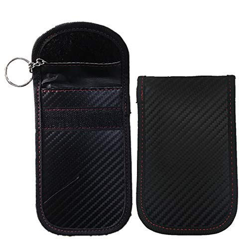 MINGZE 2 Pack Autosleutel RFID Anti-Diefstal Beschermhoes, Kaarthouders Keyless Entry Beveiliging Hoesje Signaal…