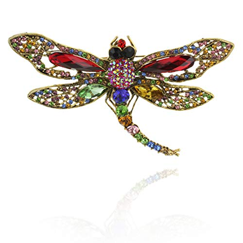 SP Sophia Collection Radiant Firefly Elegant Brooch Pin Embellished with Austrian Crystals and Rhinestones in Multi Color ()