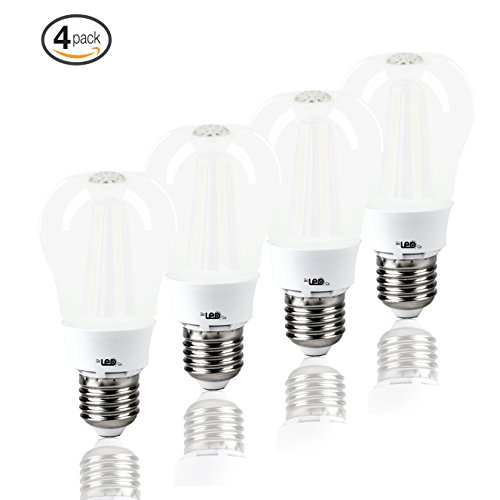 LED Light Bulbs for Home 60 watt Equivalent 8 Watt lights A19 Brightest Bulb Energy Star Soft White Glow Lighting 3000K 810 Lumens 2 Year Warranty 4-Pack