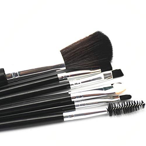 Makeup Brush Set,7Pcs Essential Premium Synthetic Makeup Brushes for Large Powder Foundation Brush Eye Makeup Brushes Kit with Great Makeup Sponge,Professional Easy Travel