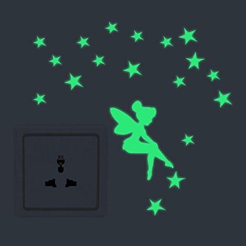 TM OrzBuy Pegatinas de Estrellas,Hermosa Fluorescentes Que Brillan en la Oscuridad Estrellas Cambiar Pegatinas,Verde