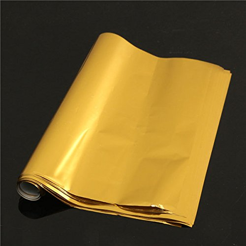 50pcs A4 Stamping Transfer Foil Paper Laser Printer Laminating Transfered Gold - Tools, Industrial & Scientific Raw Materials