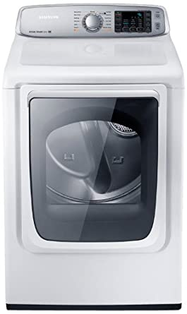samsung dv50f9a8evw electric front load dryer with steam dry 74 cubic feet neat white