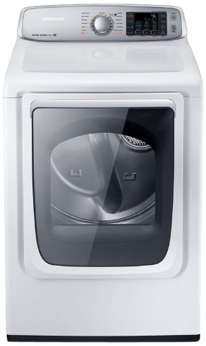 Samsung DV50F9A8EVW Electric Front Load Dryer with Steam Dry, 7.4 Cubic Feet, Neat White
