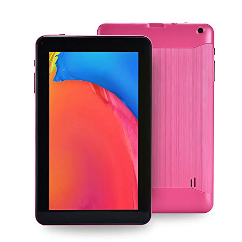 Haehne 9 Inch Tablet PC, Google Android 6.0 Quad Core 1.3GHz, 1GB RAM 16GB ROM, Dual Cameras, Bluetooth, WiFi, Pink