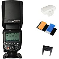 Yongnuo YN600EX-RT II Flash Speedlite for YN-E3-RT, Canons 600EX-RT/ST-E3-RT Wireless Signal Camera, LCD Display, USB Firmware Upgrade, 1/8000sec Sync Speed with Color Gel Filters & Diffuser