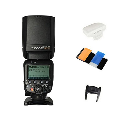 Yongnuo YN600EX-RT II Flash Speedlite for YN-E3-RT, Canon's 600EX-RT/ST-E3-RT Wireless Signal Camera, LCD Display, USB Firmware Upgrade, 1/8000sec Sync Speed with Color Gel Filters & Diffuser by Yongnuo