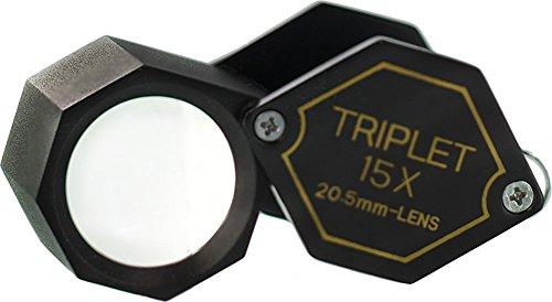 SE MJ31521BH 15 x 20.5mm Professional Hexagonal Triplet Jeweler's Loupe