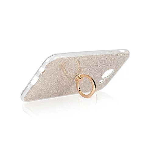 Luxury Bling Sparkle Style Case, Soft TPU [Silicone] Flexible Glitter Back Cover with Fingerring Stand [Anti Scratch] [Shockproof] for Samsung Galaxy A810 (A8 2016) ( Color : White ) Gold