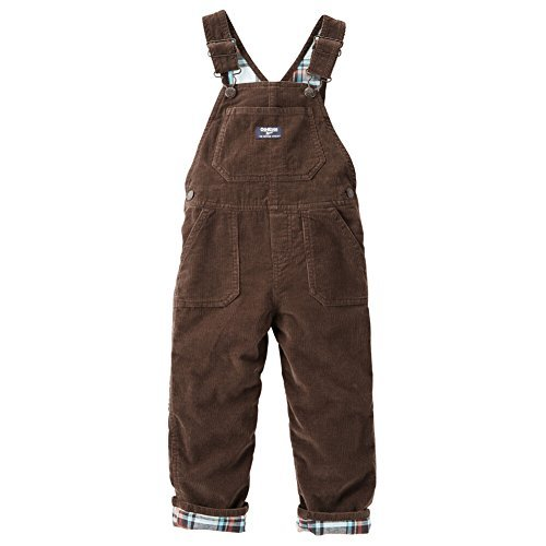 - OshKosh B'Gosh Baby Boys Flannel Lined Cord Overalls Mint Plaid 6 Months