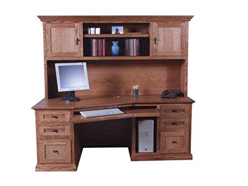 Forest Designs 74w Mission Angled Desk & Hutch 74w Merlot Oak