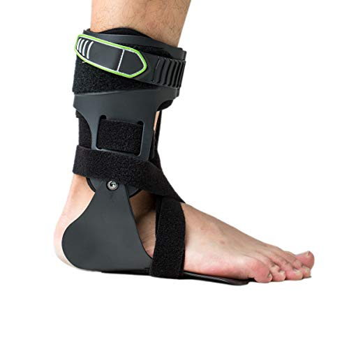 (Orthomen Ankle Brace, Rigid Ankle Stabilizer for Protection & Sprain Support for Sports, Basketball, Baseball, Soccer, Tennis, Volleyball, Football, Hockey(Right-M-L))