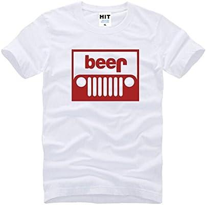 Oudan Camisa de algodón con Cuello Redondo y Camiseta Blanca de Manga Corta con Estampado de Camisetas de algodón para Hombres (Color : Blanco Rojo, tamaño : XXL): Amazon.es: Hogar