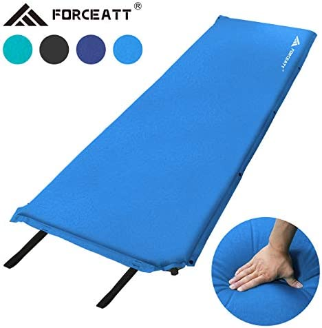 Forceatt Isomatte Selbstaufblasend - 5cm und 8cm Dickes Isomatte Camping und rutschfeste Partikel Auf der Rückseite Ideal für Rucksacktouren und Camping