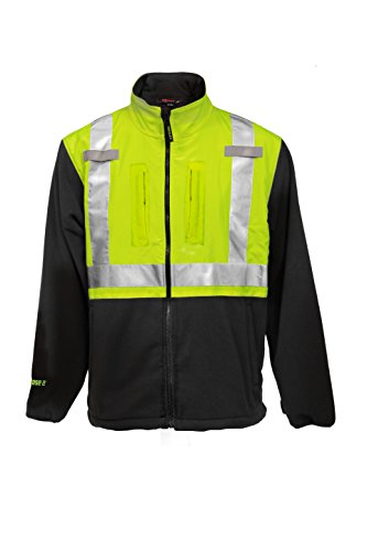 PHASE 2 Jacket – Fluorescent Yellow-Green-Black - Silver Reflective Tape - MD