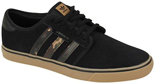 adidas Originals Herren Seeley Skate Schuhe Schwarz / Craft Canvas / Gum