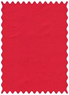 product image for SheetWorld 100% Cotton Percale Fabric by The Yard, Solid Red Woven, 36 x 44