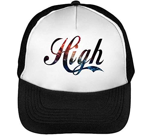 High Cosminc Logo Gorras Hombre Snapback Beisbol Negro Blanco