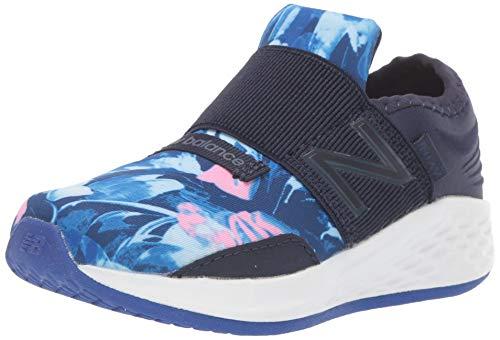 New Balance Girls' Roav V1 Fresh Foam Running Shoe, Pigment/Guava, 9.5 M US -