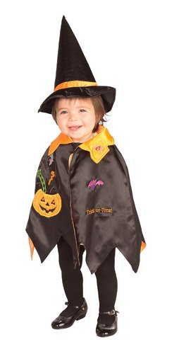 Rubies Pumpkin Infant Halloween Costume (Rubie's Costume Co Pumpkin Witch Cape Costume, Toddler)